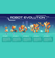 battle robot game process upgrades guide vector image vector image