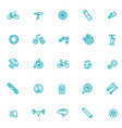 bike tools and equipment part vector image vector image
