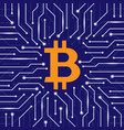 bitcoin blockchain wallpaper vector image vector image