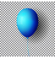 bright blue air balloon isolated on transparent vector image