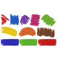 Brush strokes in many colors vector image vector image