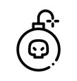 burning bomb icon outline vector image vector image