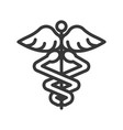 caduceus a symbolic represents hermes use in vector image vector image
