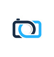 camera infinity logo icon design vector image