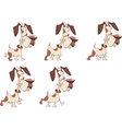 Cartoon Character Cute Hunting Dog vector image vector image