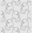 cat washed pattern seamless home pet ornament vector image vector image