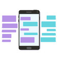 chat text message bubble 3d flat mobile interface