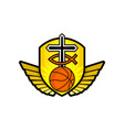 christian sports logo vector image vector image