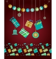 christmas socks and presents vector image