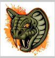 cobra head mascot vector image vector image
