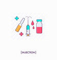 collection of injection tools syringe and ampoule vector image vector image