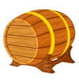 colorful cartiin wooden beer barrel vector image