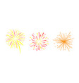 colorful fireworks set bright decoration of vector image vector image