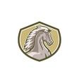 Colt Horse Head Side Shield Retro vector image vector image