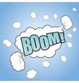 Comic boom cartoon vector image vector image