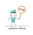 customs officer vector image vector image