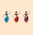 cute cartoon indian dancer vector image vector image