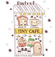 cute doodle cartoon cake vector image vector image