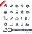 developer icons - basics vector image vector image
