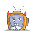 devil tv character cartoon object vector image vector image