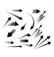 different arrows icons set simple sign vector image