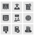 e-learning distance education icons vector image vector image