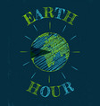 earth hour day vector image vector image
