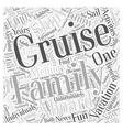 Family Vacations aboard a Cruise Ship Word Cloud vector image vector image
