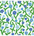 forget me not tiny blue floral pattern vector image vector image