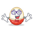 geek rambutan character cartoon style vector image vector image