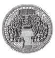 great seal of england under the commonwealth vector image vector image