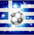 greek soccer flag vector image vector image
