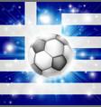 greek soccer flag vector image
