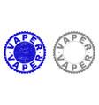 grunge vaper scratched stamp seals vector image vector image