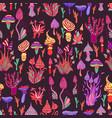 hallucinogenic decorative fantastic mushrooms vector image