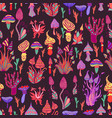 hallucinogenic decorative fantastic mushrooms vector image vector image