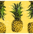 Hand drawn pineapple seamless vector image