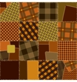 Imitation of quilting design vector image vector image