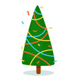 isolated christmas tree on white background vector image vector image