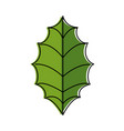 leaf christmas decoration icon vector image
