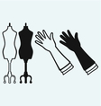 Long glove and tailors mannequin vector image vector image