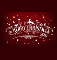merry christmas day 2019 happy new year and xmas vector image vector image