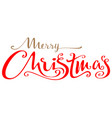 merry christmas ornate lettering text for greeting vector image vector image