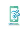 mobile phone logo template concept vector image