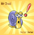 mr snail with surprisingly vector image vector image
