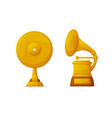 music awards vinyl disc and gramophone shapes vector image