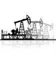 Oil pumps silhouette isolated on white background vector image vector image