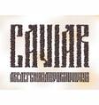 old slavic font black caviar vector image vector image