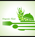 organic food label design concept with restaurant vector image