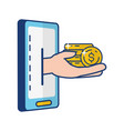 people online banking vector image